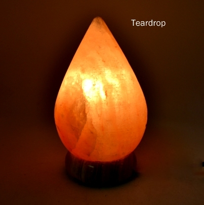 teardrop salt lamp